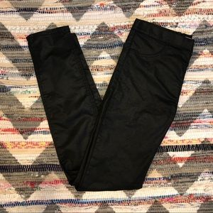 H&M Coated Leather Look Jeggings